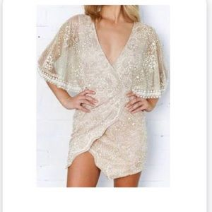 Formal golden dress